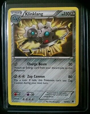 Rare LP Klinklang Pokemon Card 76/98 Emerging Powers 2011 B&W TCG in Hard Case !
