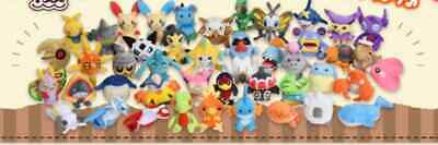 Pokemon Center Original Ruby & Sapphire Plush Stuffed Doll 141 types Pokemon fit