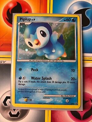 Piplup DP03 Holo Diamond and Pearl Black Star Promos Pokemon Card