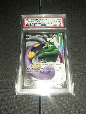 Pokemon EMERGING POWERS TORNADUS #98 FULL ART HOLO FOIL CARD PSA 10 GEM MINT