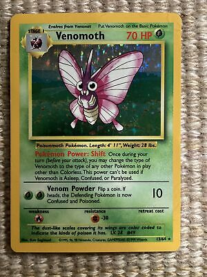 Pokemon Card Venomoth Jungle 13/64 Holo Rare Error No Symbol LP-NM
