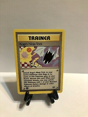 Pokemon 1st Ed. Gym Challenge Set UN-COMMON Koga's Ninja Trick 115/132 - NM