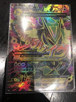 Pokemon Card Mega M Rayquaza EX 105/108 Roaring Skies Full Art Ultra Rare