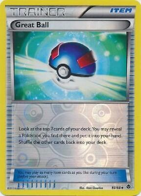 Great Ball - 93/98 - Uncommon Reverse Foil new Emerging Powers Pokemon 2GQ