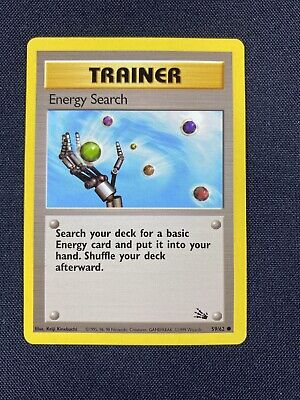 Pokemon Card - Energy Search Trainer - Fossil 59/62 MP