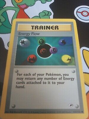 Energy Flow (122/132) Trainer Gym Heroes Pokemon Card WOTC Good condition