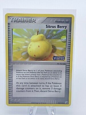 Sitrus Berry 91/115 - Stamped Ex Unseen Forces Reverse Holo - 2005 Pokemon Card