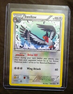 Swellow 103/146 - Rare - Lightly Played - Pokemon Card - XY - 2014 - Hard Case
