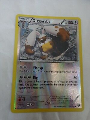 Uncommon Reverse Holo Diggersby 112/146 Xy Expansion Set Pokemon Card Go