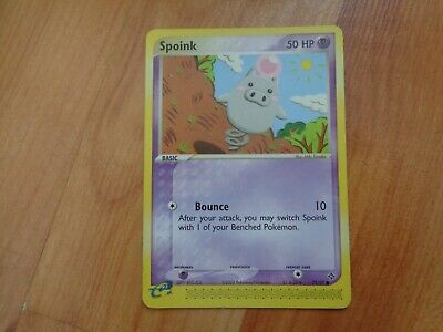 Common Spoink 73/97 Ex Dragon Set Pokemon Card
