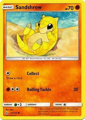 Sandshrew 83/214 - Common Pokemon Card - Unbroken Bonds Set (2019) - NM