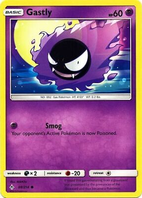 Gastly 68/214 - Common Pokemon Card - Unbroken Bonds Set (2019) - NM