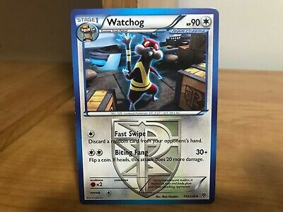 Pokemon Card Watchog 112/135 Plasma Storm in Good Condition!