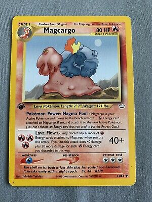 MAGCARGO - 1st Edition Neo Revelation - 33/64 - Uncommon - Pokemon Card - LP