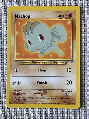 Pokemon TCG - Machop 73/105 Neo Destiny Unlimited Common Card Mint