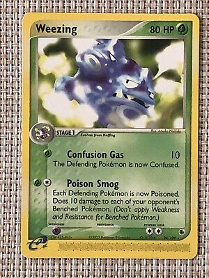 WEEZING - 24/109 - Ruby & Sapphire - Rare - Pokemon Card - NM/M