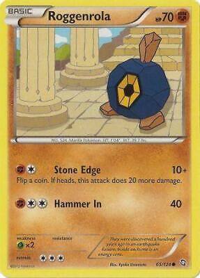 Roggenrola 65/124 - Common Pokemon Card - Dragons Exalted Set (2012) - NM