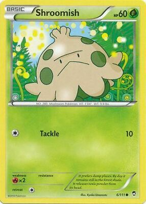 Shroomish 6/111 - Common Pokemon Card - Furious Fists Set (2014) - NM