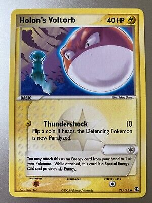 Holon's Voltorb 71/113 EX Delta Species Pokemon Card **MINT CONDITION NEVER USED