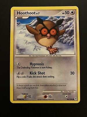 Hoothoot 85/130 Diamond & Pearl Pokemon Card **MINT CONDITION NEVER USED