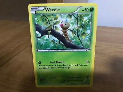 Pokemon Card Weedle XY Base Set 3/146 in Good Condition!