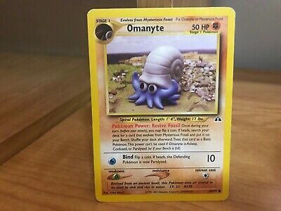Pokemon Card Omanyte 60/75 Neo Discovery in Good Condition!