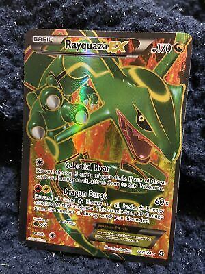Pokemon Dragons Exalted Rayquaza Ex Full Art Miscut Near Mint