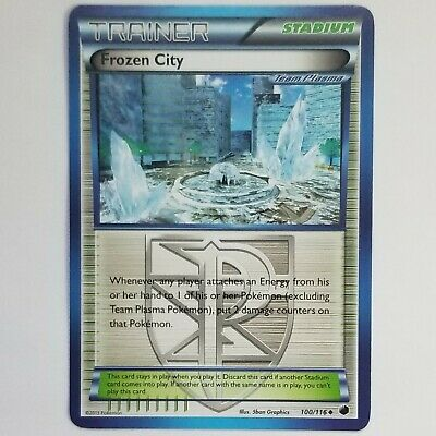 NM LEAGUE Pokemon FROZEN CITY Card PLASMA FREEZE Set 100/116 Non-Holo
