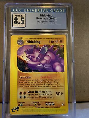 Pokemon Aquapolis Nidoking 24/147 CGC 8.5 (PSA 9?