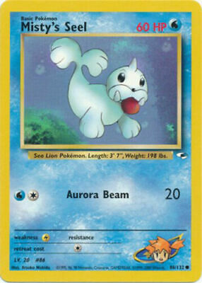 Misty's Seel Common Pokemon Card Gym Heroes 88/132 EXC