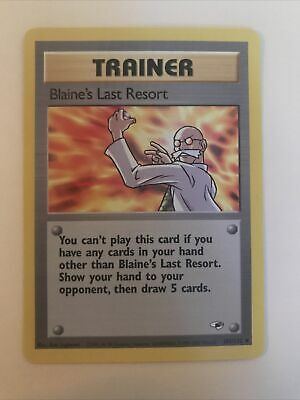 Pokemon Gym Heroes Unlimited Blaine's Last Resort 105/132 in NM condition