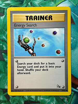 Pokemon Energy Search Fossil Unlimited 59/62 WOTC Vintage MP/HP