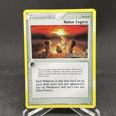 Holon Legacy 74/101 Stamped Reverse Holo EX Dragon Frontiers Pokemon Card