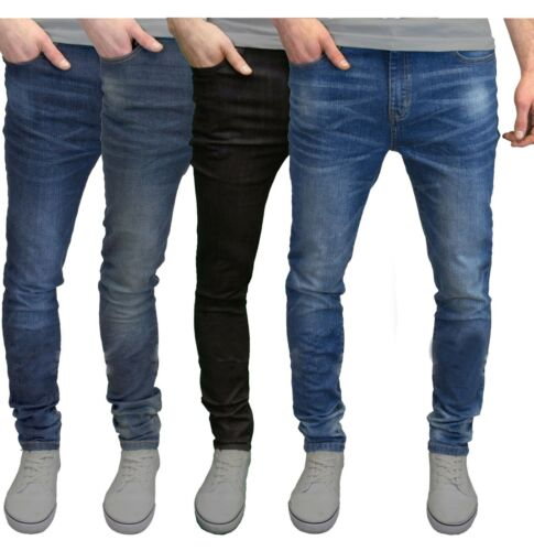 c2f38e63 Mens Slim Fit Jeans Super Stretch Denim Pants Slim Skinny Casual Designer  Jeans