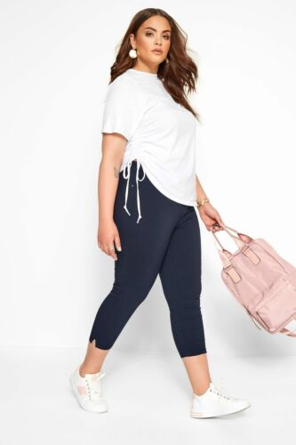 5b17a12c791 Yours Clothing Women s Plus Size Bengaline Cropped Pull On Trousers