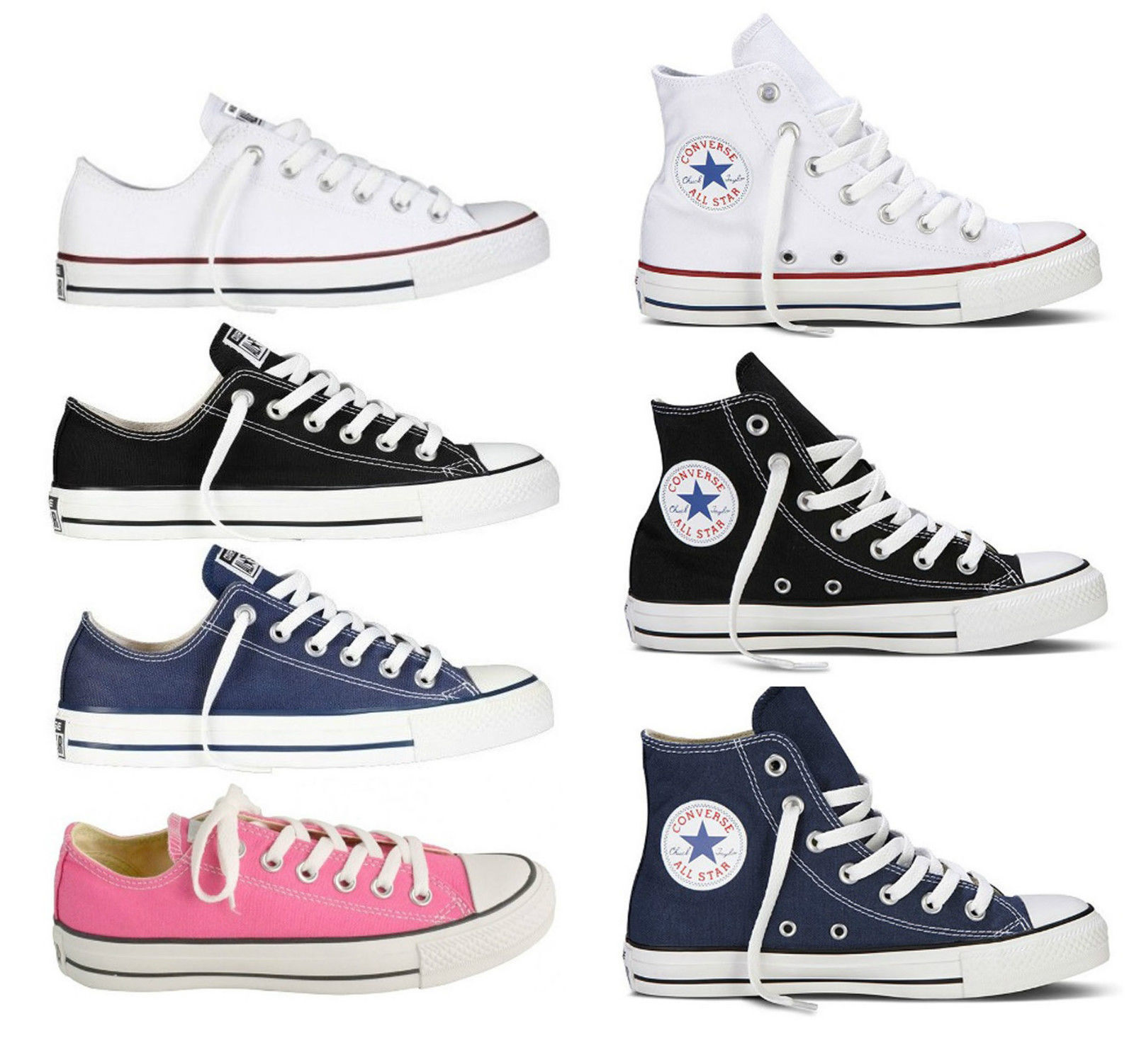 converse chuck taylor all star nere basse