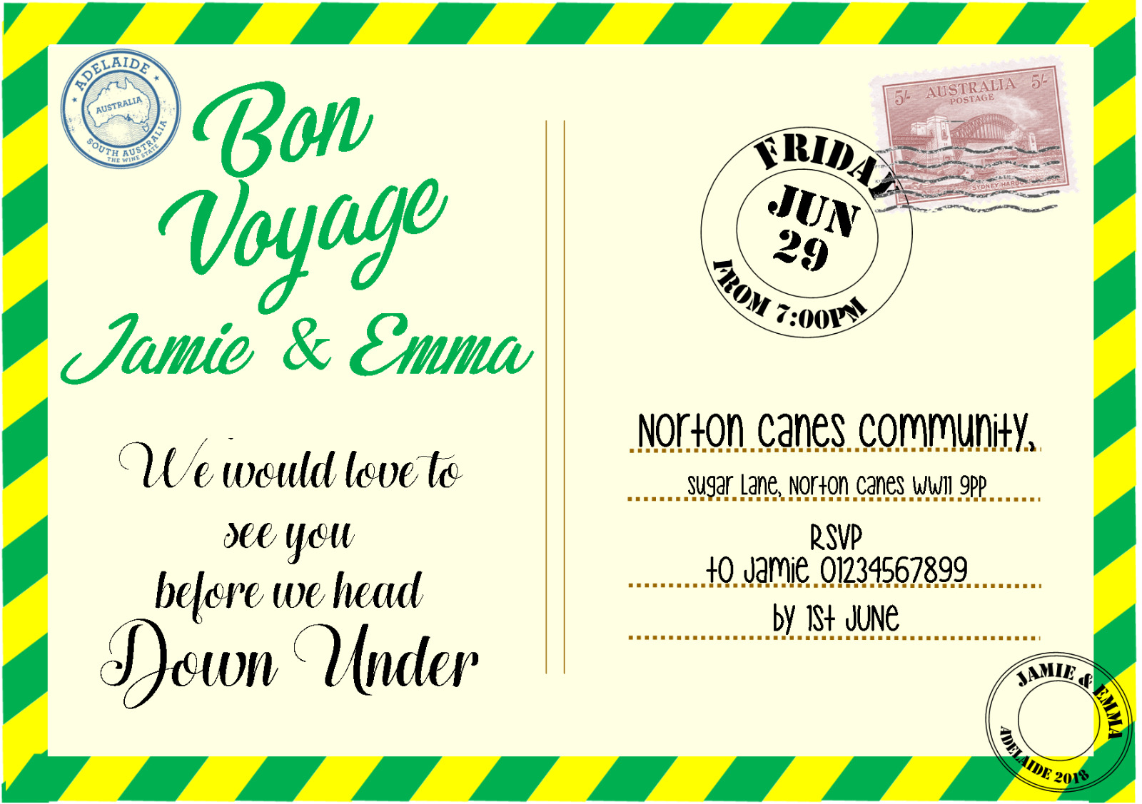 Nice Leaving Party Invitations Pictures Inspiration - Invitation ...