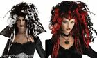 Halloween Wig Gothic Widow Witch Sorceress Fancy Dress