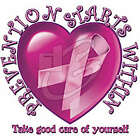 PREVENTION STARTS W/ LOVE GIFT T-SHIRT BREAST CANCER Gildan Ultra Cotton Tee