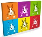 English Bull Terrier Dog Print, CANVAS A3 to A1 - v144