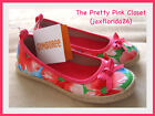 Gymboree Burst of Spring Watercolor Flower Shoes NWT
