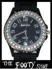PLASTIC TOY WRIST WATCH SILICONE LADIES DIAMANTE BLING