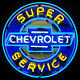 Chevy Neon Sign Super Chevrolet Service Parts wall lamp light Muscle car garage