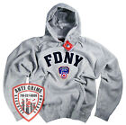 FDNY CLOTHING APPAREL GRAY T SHIRT HOODIE EMBROIDERED