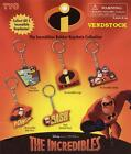 DISNEY PIXAR INCREDIBLES DIE CUT KEYCHAINS - 5 FIGURES TO CHOOSE FROM OR BUY SET