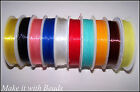 20m Elastic Beading Cord Thread U Pick Pink Blue Red Black Clear Turquoise Brown