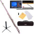 Mendini C Flute ~Silver Gold Blue Green Pink Purple Red +Tuner+Stand+Carekit фото