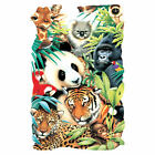 PANDA COLLAGE KINGDOM TIGER T-SHIRT GIFT WILDLIFE Gildan Ultra Cotton Tee