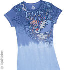 NEW Womens Grateful Dead Flowers Band Rock Band Premium Fitted Shirt S M L XL