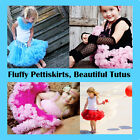 Girls Princess Pettiskirt Tutu Dance Party Skirt 1-8yrs FREE Flower Headband